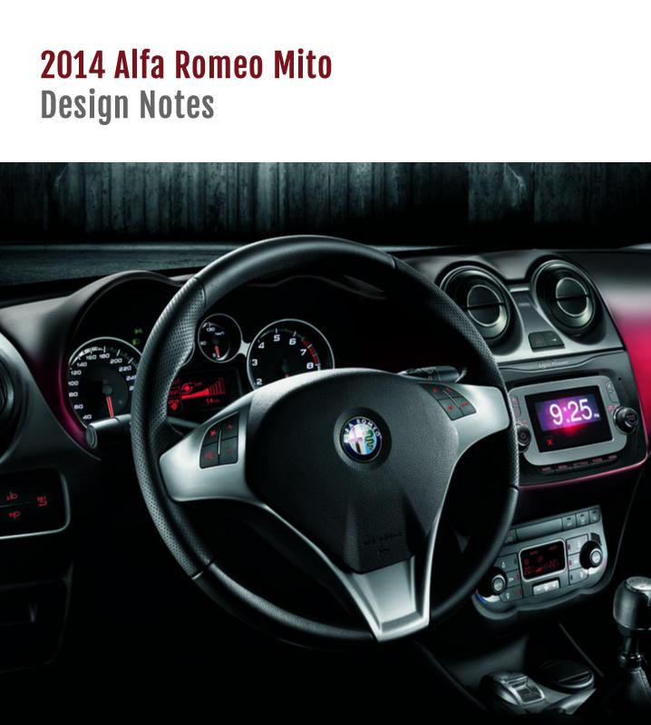 2014 Alfa Mito Design Notes 1