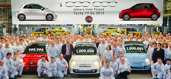 One millionth Fiat 500 rolls off the line