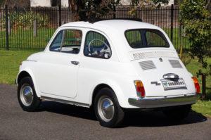 1970 Fiat 500 White - rear